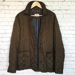 HICKEY FREEMAN QUILTED BUTTON DOWN JACKET XLARGE
